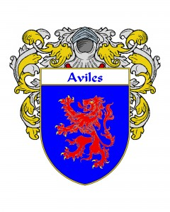 Aviles Spanish Coat of Arms