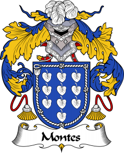 Montes Coat of Arms, Montes Family Crest, Montes escudo de armas, Montes cresta de la familia, Montes apellido, Montes Family reunion, spanish genealogy