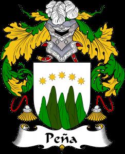 Pena Coat of Arms, Pena Family Crest, Pena escudo de armas, Pena cresta de la familia