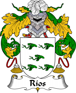 Rios Coat of Arms, Rios Family Crest, Rios escudo de armas, Rios cresta de la familia