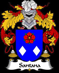 Santana Coat of Arms, Santana Family Crest, Santana escudo de armas, Santana cresta de la familia
