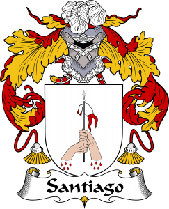 Santiago Coat of Arms, Santiago Family Crest, Santiago escudo de armas, Santiago cresta de la familia