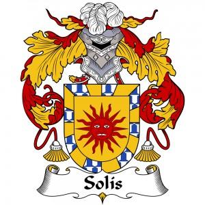 Solis Coat of Arms, Solis Family Crest, Solis escudo de armas, Solis cresta de la familia