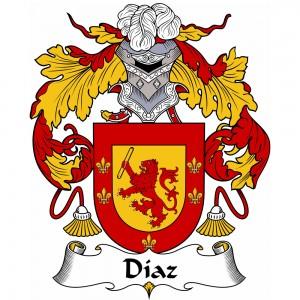 Diaz Coat of Arms, Diaz Family Crest, Diaz escudo de armas, Diaz cresta de la familia