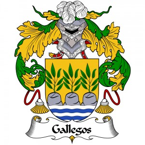 Gallegos Coat of Arms, Gallegos Family Crest, Gallegos escudo de armas, Gallegos cresta de la familia, Gallegos apellido, Gallegos Family reunion, spanish genealogy