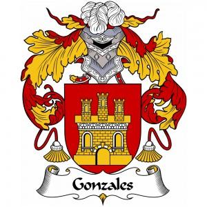 Gonzales Coat of Arms, Gonzales Family Crest, Gonzales escudo de armas, Gonzales cresta de la familia