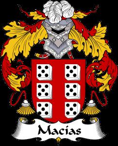 Macias Coat of Arms, Macias Family Crest, Macias escudo de armas, Macias cresta de la familia, Macias apellido, Macias Family reunion, spanish genealogy