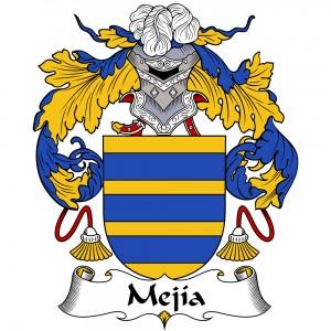 Mejia Coat of Arms, Mejia Family Crest, Mejia escudo de armas, Mejia cresta de la familia, Mejia apellido, Mejia Family reunion, spanish genealogy