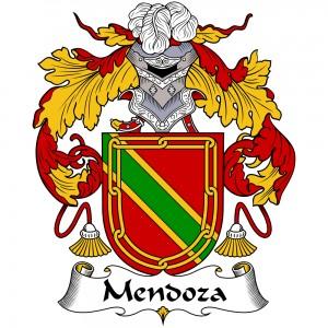 Mendoza Coat of Arms, Mendoza Family Crest, Mendoza escudo de armas, Mendoza cresta de la familia
