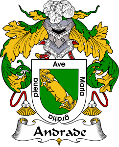 Andrade Coat of Arms, Andrade Family Crest, Andrade escudo de armas, Andrade cresta de la familia, Andrade apellido, Andrade Family reunion, spanish genealogy