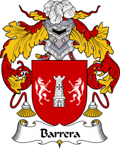 Barrera Coat of Arms, Barrera Family Crest, Barrera escudo de armas, Barrera cresta de la familia, Barrera apellido, Barrera Family reunion, spanish genealogy