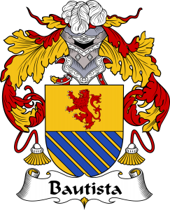 Bautista Coat of Arms, Bautista Family Crest, Bautista escudo de armas, Bautista cresta de la familia, Bautista apellido, Bautista Family reunion, spanish genealogy