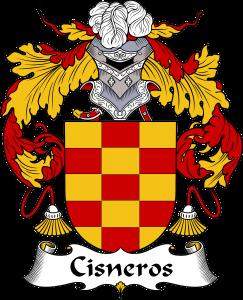 Cisneros Coat of Arms, Cisneros Family Crest, Cisneros escudo de armas, Cisneros cresta de la familia, Cisneros apellido, Cisneros Family reunion, spanish genealogy