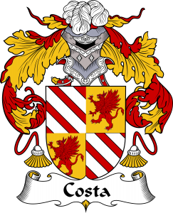 Costa Coat of Arms, Costa Family Crest, Costa escudo de armas, Costa cresta de la familia, Costa apellido, Costa Family reunion, spanish genealogy