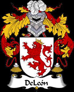 DeLeon Coat of Arms, DeLeon Family Crest, DeLeon escudo de armas, DeLeon cresta de la familia, DeLeon apellido, DeLeon Family reunion, spanish genealogy