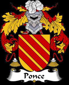 Ponce Coat of Arms, Ponce Family Crest, Ponce escudo de armas, Ponce cresta de la familia, Ponce apellido, Ponce Family reunion, spanish genealogy