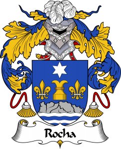Rocha Coat of Arms, Rocha Family Crest, Rocha escode de armas