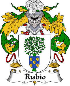 Rubio Coat of Arms, Rubio Family Crest, Rubio escode de armas